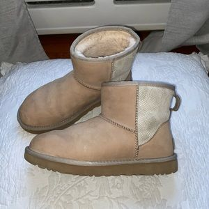 Mini Sand and Snakeskin Uggs